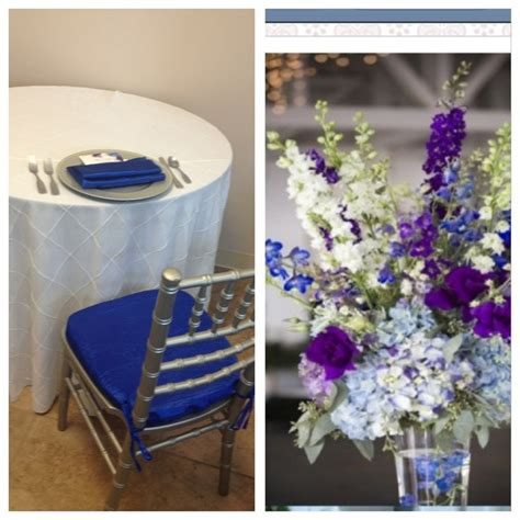 royal blue table linens pin by kasey buker on our blue and purple wedding