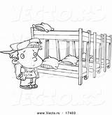 Bunk Beds Coloring Pages Camp Summer Cartoon Template Outline Sketch sketch template