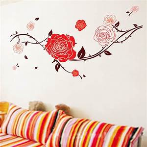 red roses wall sticker wallstickerscoolcomau wall With beautiful rose decals for walls
