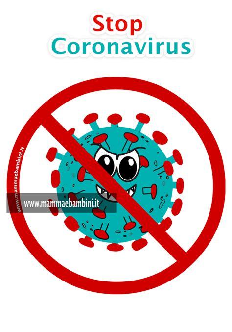 disegni stop al coronavirus mamma  bambini