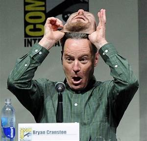 Bryan Cranston wearing a Heisenberg mask at Comic-Con is ...