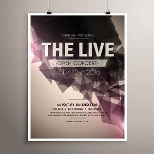 Free Leaflet Template Elegrant Live Concert Music Flyer Brochure Template