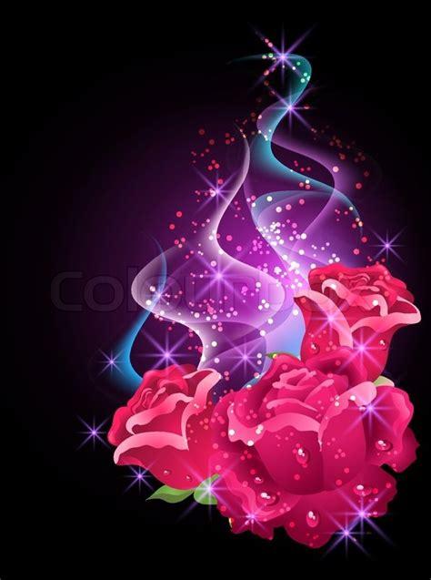 roses  stars stock vector colourbox