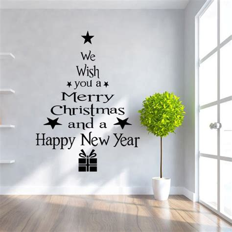 christmas trees letters stick wall art decal mural decor