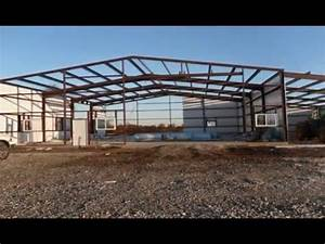 all steel building system erection youtube With all metal building systems