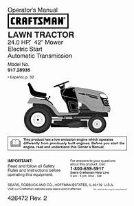 Craftsman Yt 4000 Operator U0026 39 S Manual
