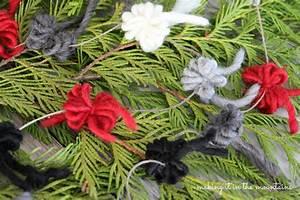 Rustic, Christmas, Tree, Garland