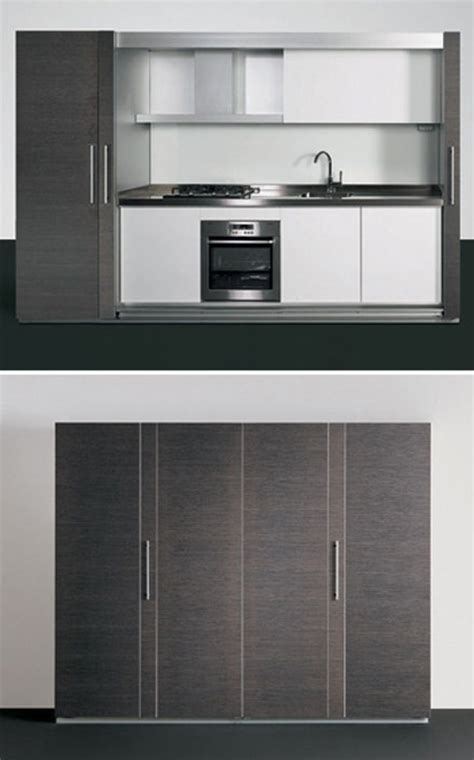 tiny meals  sophisticated small space concealed kitchens