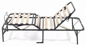 Fastfurnishings Manual Adjustable Bed Frame With Wood