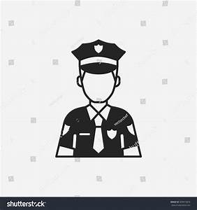 Policeman Icon Stock Vector Illustration 309815876 ...