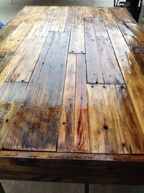 pallet wood table top reclaimed wood benches