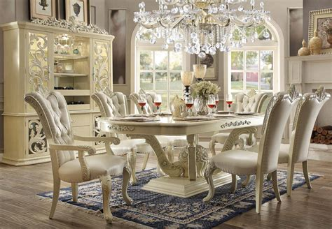 homey design hd  antique victorian white dining room set