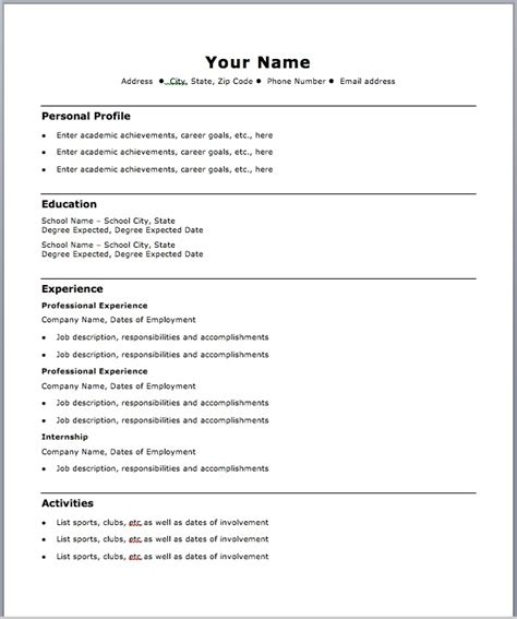 19978 free chronological resume template resume format 2017 16 free to word templates