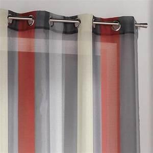 Rideau Gris Et Rouge : rideau voilage gris et rouge best rideau voilage antifeu ~ Teatrodelosmanantiales.com Idées de Décoration