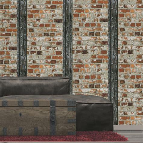 tapis de cuisine originaux papierpeint9 papier peint effet brique