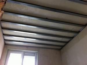 Pose De Placo Sur Rail : comment faire un plafond en ba13 ~ Carolinahurricanesstore.com Idées de Décoration
