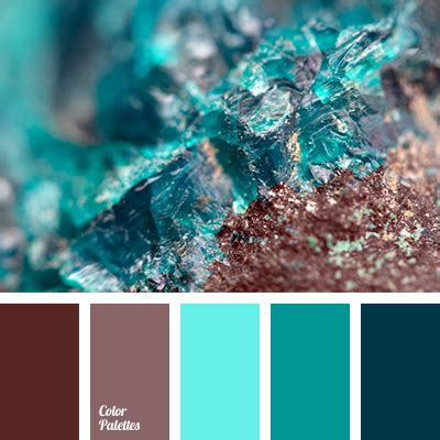Brown And Turquoise  Color Palette Ideas