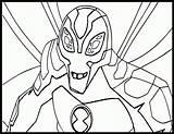 Coloring Ben Alien Ten Force Ultimate Chill Humungousaur Cool Echo Comments Coloringhome Template sketch template