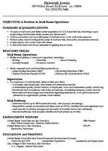 mailroom clerk description resume on resume