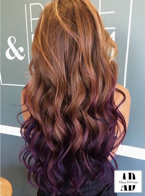 Image Result For Light Brown Hair With Purple Highlights