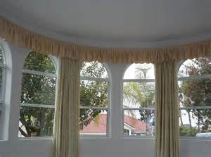bay window with valance bendable curtain rod traditional