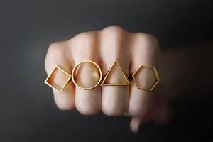 Simplistically shaped jewelry geometric metal ring for Geometric wedding ring