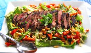 Curtains With Orange by Asian Beef Salad With Sesame Orange Ginger Vinaigrette
