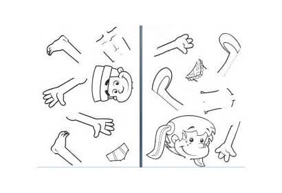 Parts Kindergarten Preschool Human Coloring Worksheets Activities