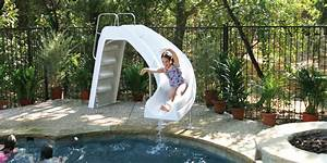 toboggan aquablast blanc pour piscine enterree oogarden With toboggan gonflable pour piscine enterree