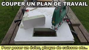 couper un plan de travail pour poser un evier une table de With decouper un plan de travail pour plaque