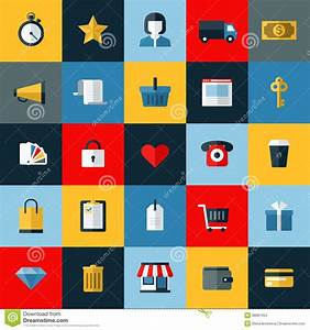 Set Online Shop : set of flat vector online shopping icons stock vector image 38887004 ~ Orissabook.com Haus und Dekorationen