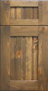 Knotty Pine Shaker Door with Beaded Panel - Rustic - other