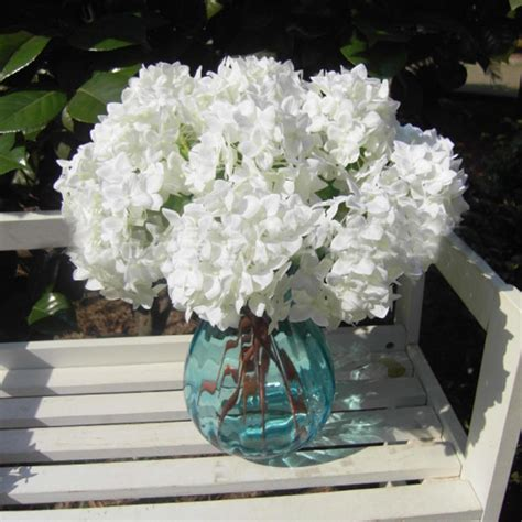 hydrangea silk flowers bouquet wedding home decor