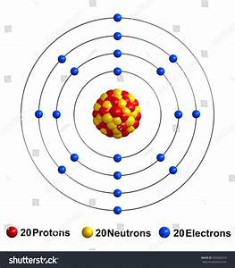 3d Render Atom Structure Calcium Isolated Stock Illustration 550082419