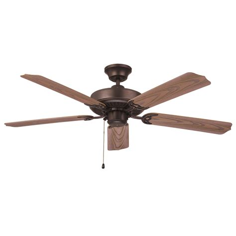 52 outdoor ceiling fan shop litex all weather 52 in aged bronze outdoor downrod