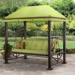 swing gazebo outdoor covered patio deck porch garden canopy 3 canopy swing schwep