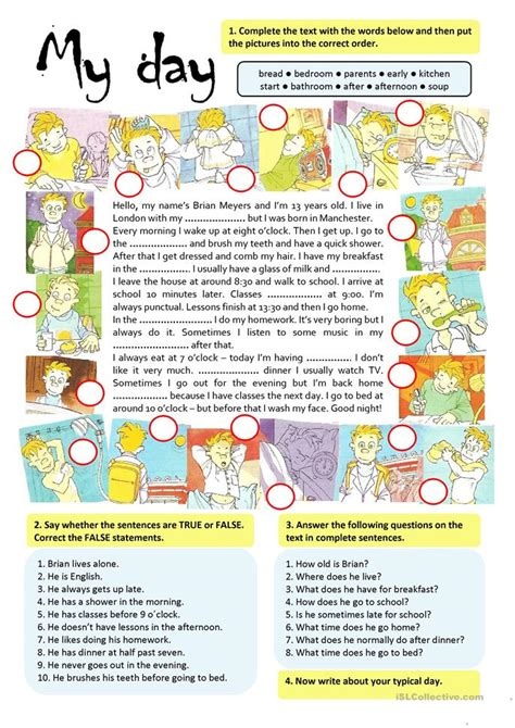 day worksheet  esl printable worksheets