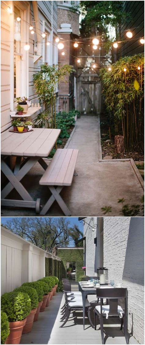 awesome ideas  design long  narrow outdoor spaces