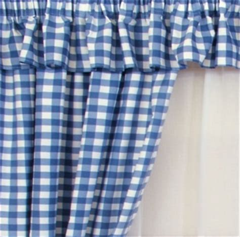 Blue Country Kitchen Curtains by Gingham Blue Kitchen Curtains Kitchen Inspiration