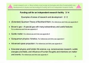 Information document about entirely novel energy ...