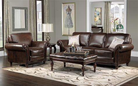 Color Schemes For Living Rooms With Brown Leather Grey
