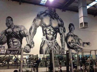 inspirational mural   gym love  gym interior
