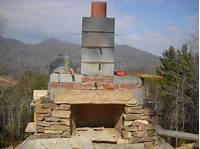 how to build a fireplace How to build an outdoor stone fireplace step by step