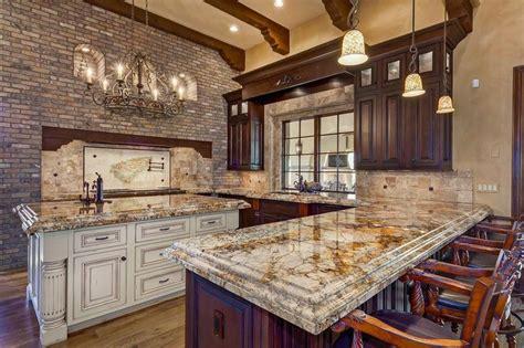 mediterranean kitchen  caravelas gold granite