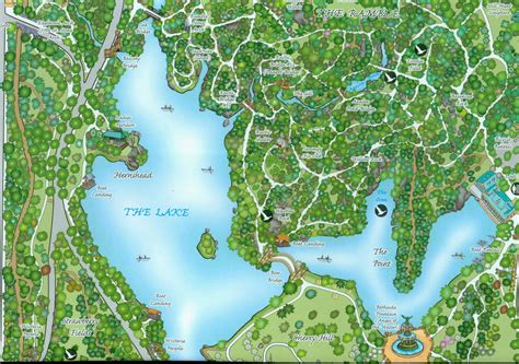 enthusiasts compose map  central park trees
