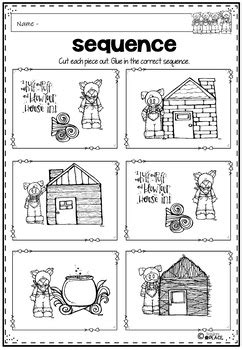 Three Little Pigs Activities and Worksheets by Paula's
