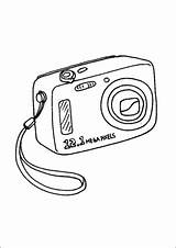 Camera Coloring Digital Pages Technology Office Freeprintablecoloringpages Printable sketch template