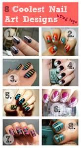 Diy nail design tape coolest art designs