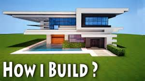 minecraft birth of a modern house how i come up with