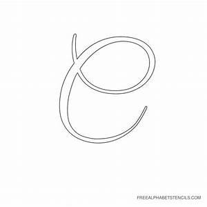 elegant cursive alphabet stencils in printable format With cursive letter stencils free